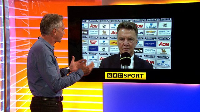 BBC Sport's Gary Lineker speaks to Manchester United manager Louis van Gaal