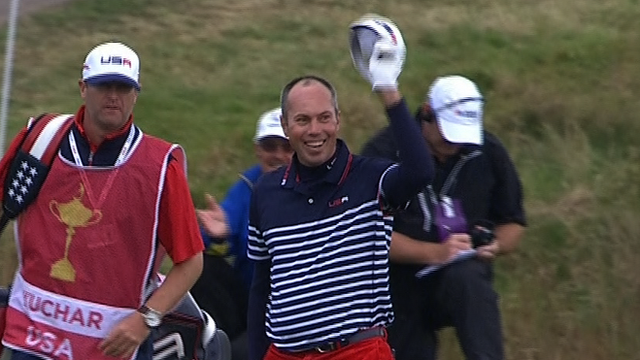 Ryder Cup 2014: Matt Kuchar eagles from 8th fairway