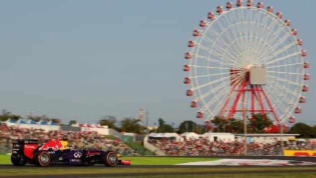 Sebastian Vettel drives at Suzuka