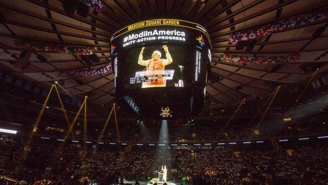 Prime Minister Narendra Modi speaks at Madison Square Garden in New York