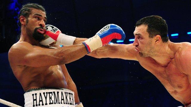 David Haye loses his world heavyweight title fight to Wladimir Klitschko in Hamburg