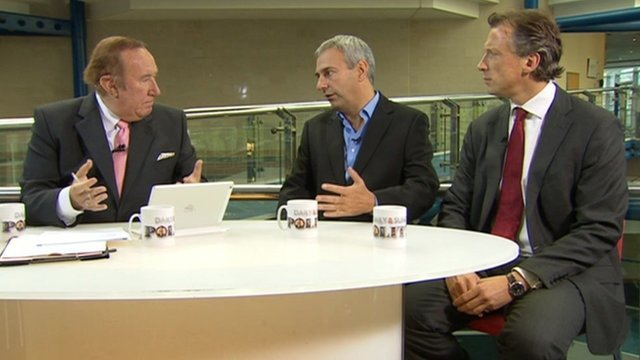 Andrew Neil, Kevin Maguire and Tom Newton Dunn