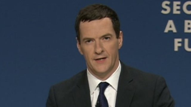 George Osborne at Tory conference