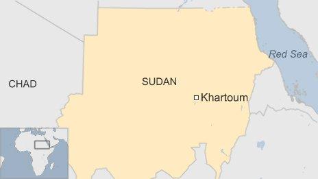 BBC map of Khartoum in Sudan