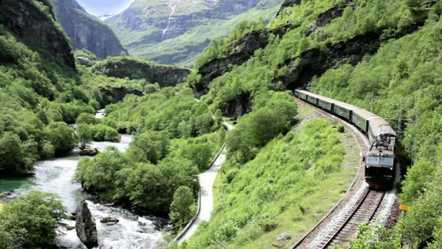 The 20 kilometre train ride from Flam, in Western Norway