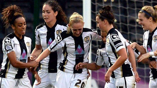 Aileen Whelan scores against Everton