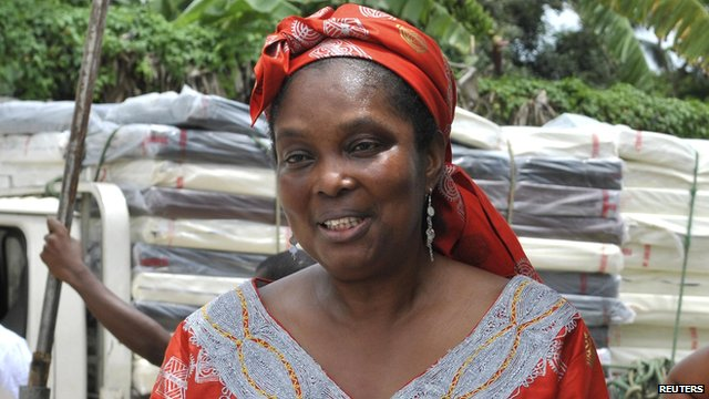 Bernice Dahn on 21 September 2014, attending the opening ceremony for the Island ebola treatment centre in Monrovia
