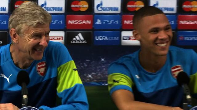 Arsene Wenger and Kieran Gibbs