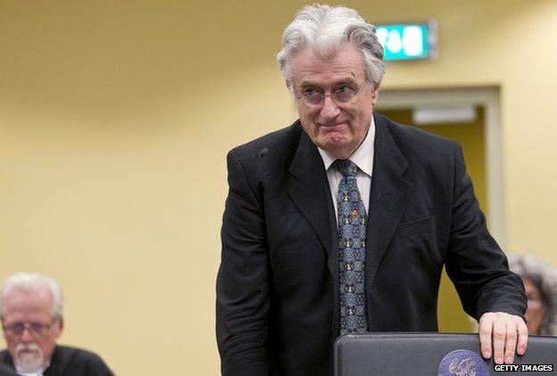 Radovan Karadzic at The Hague (July 2013)