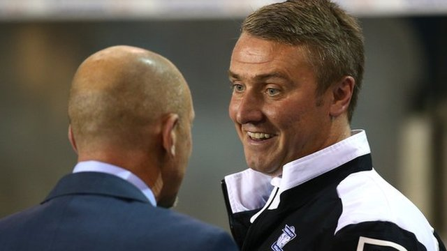 Birmingham City boss Lee Clark was congratulated on Blues' victory at The Den by opposite number Ian Holloway.