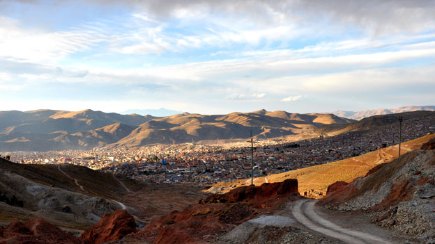 View of the city of Potosi from the Cerro Rico