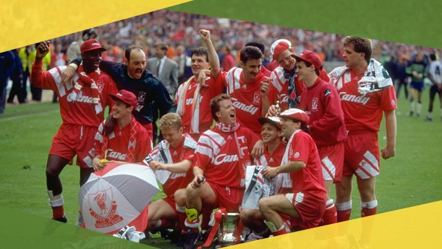 Liverpool celebrate 1992 FA Cup victory