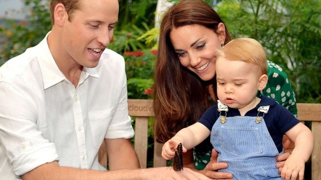 Picture taken on July 2, 2014, to mark Prince George's first birthday
