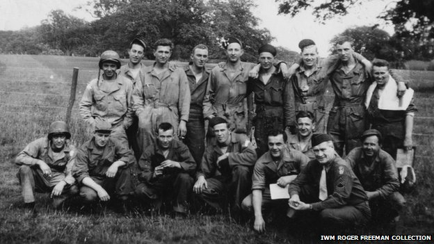Charles Jackson and other American airmen, Rackheath, Norfolk