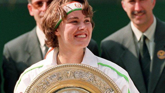 16-year-old Martina Hingis wins Wimbledon singles title