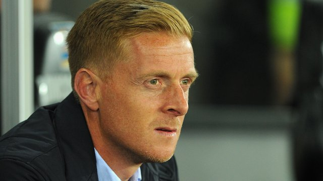 Swansea City manager Gary Monk