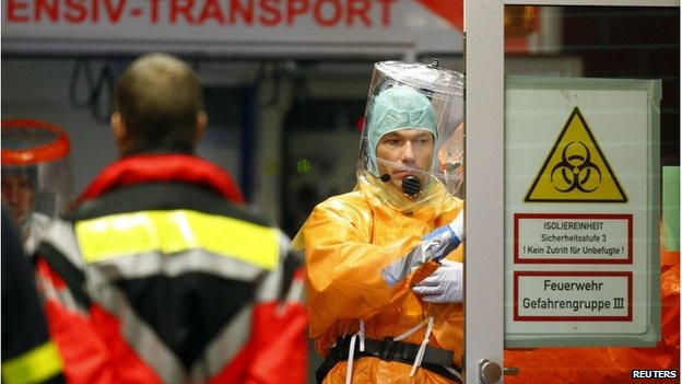 Frankfurt University Hospital prepares to receive an Ebola patient from Africa