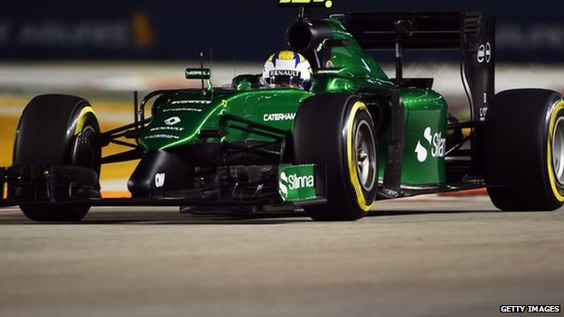 Caterham F1 Manufacturer Goes Into Administration Bbc News