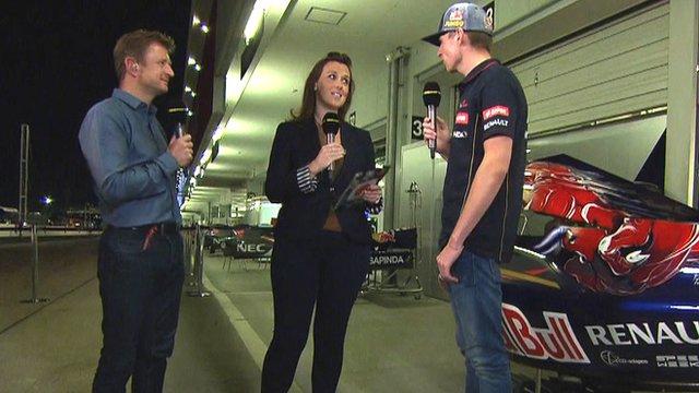Lee McKenzie and Allan McNish talk to Max Verstappen