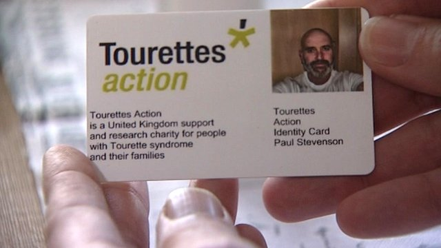 Tourette's Action card