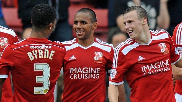 Swindon celebrate scoring