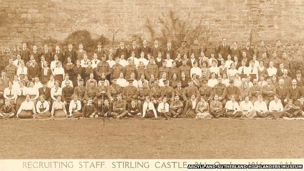 Soldiers at Stirling Castle during World War One