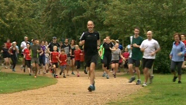 Paul Sinton-Hewitt followed by other runners
