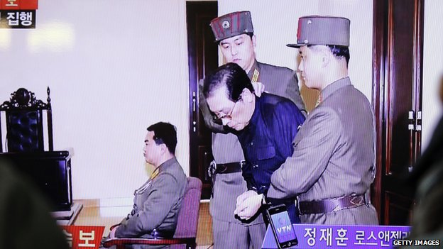 Chang Song-thaek appears in court where he was sentenced to death
