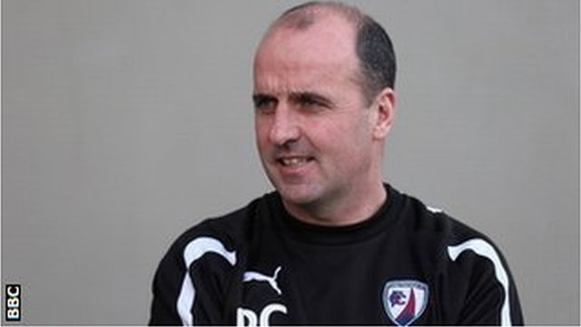 Chesterfield manager Paul Cook