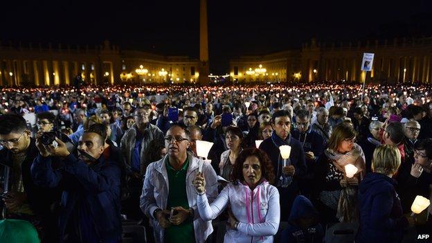 vigil prayers before the Synod 4 October 2014
