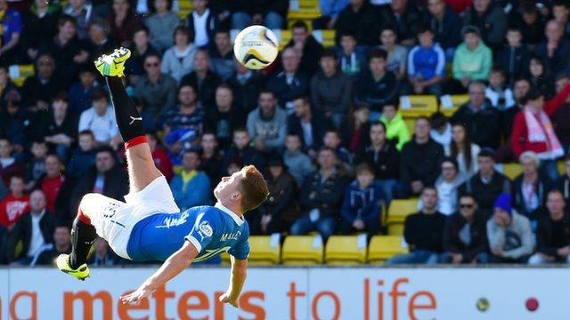 Lewis Macleod scores an acrobatic winner for Rangers