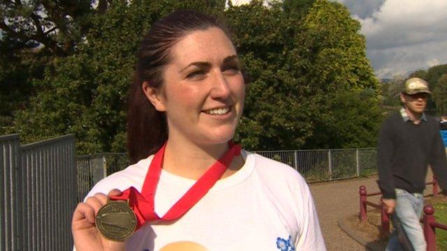 Cardiff Half Marathon runner