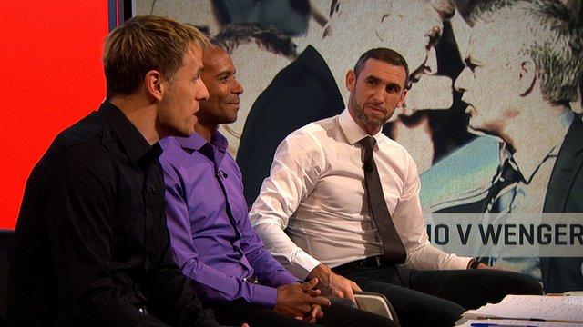 Phil Neville, Trevor Sinclair and Martin Keown