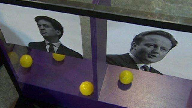 Ed Miliband and David Cameron mood box