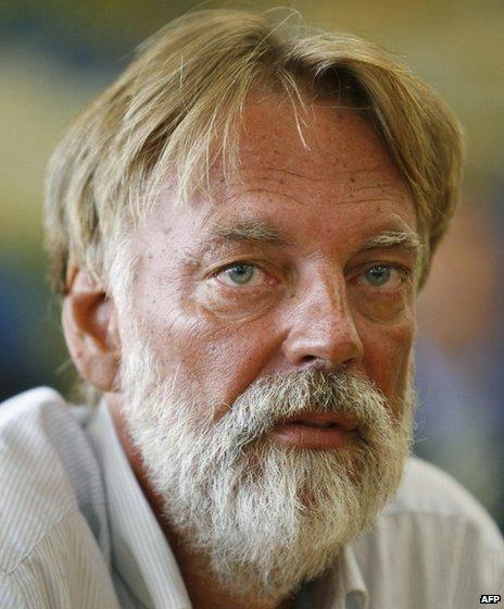 Werner Greiner after his release