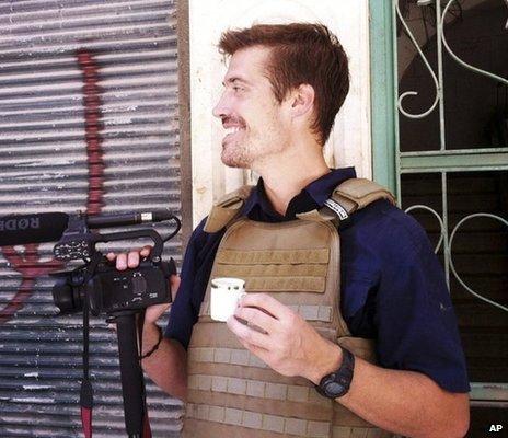 James Foley in Aleppo, Syria, 2012
