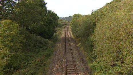 Track near Seaton Junction