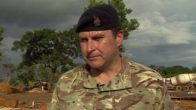 Brig Stephen Mahon of the UK Ebola Task Force