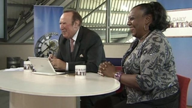 Andrew Neil and Pauline Pearce