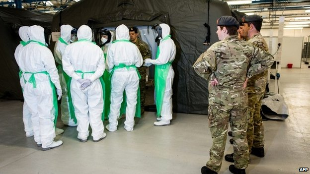 British army medics training to go to West Africa