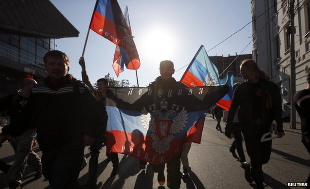 Pro-separatist march in Moscow (21 September)
