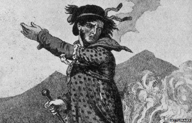 A leader of the Luddites, possibly a caricature of Ned Ludd