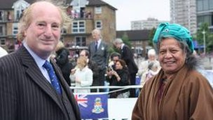 Michael Walsh and his wife Nei Rotee