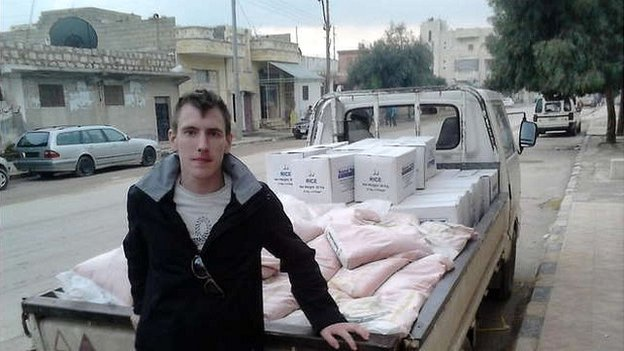 Peter Kassig en route from Turkey to a refugee camp in Idlib, Syria - December 2012