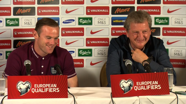 England captain Wayne Rooney and manager Roy Hodgson speak to the media ahead of the Euro 2016 qualifier against San Marino