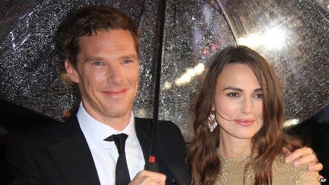 Benedict Cumberbatch with Kiera Knightley