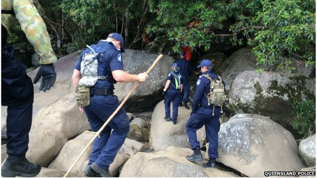Picture of Queensland police searching for Shannon Fraser.