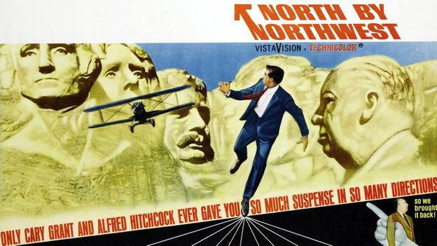 Promotional poster for North by Northwest