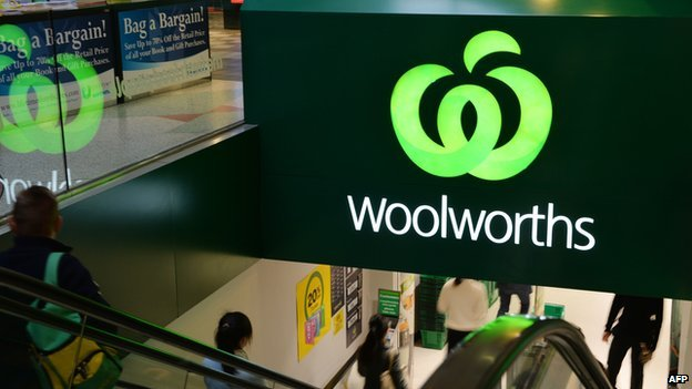 File picture of a Woolworths store logo