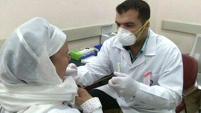 Screening for Ebola at Cairo airport